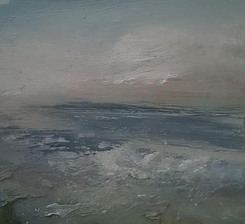 TINA BROOKS 20 Atlantic Dusk, Winter 2020. Oil on canvas. 26x24cm. TB. €400