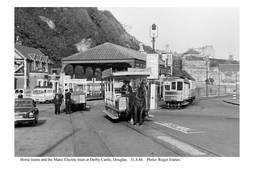 Douglas Derby Castle. Horse trams and MER. 31.8.64