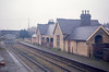 Brackley Town (LNW) station, Northants, looking toward Banbury on 9th April 1966.
