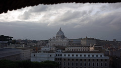 View of Saint Peter's Basilica from Castel Sant'Angelo (Mausoleum of Hadrian)