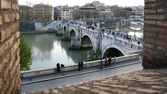 View of Ponte Sant' Angelo from Castel Sant'Angelo (Mausoleum of Hadrian)