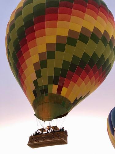Égypte, Vallée des Rois, Nécropole thébaine, Lever de la montgolfière