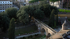View of the Passetto from the Castel Sant'Angelo (Mausoleum of Hadrian)