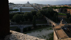View of the Passetto leading to the Vatican from Castel Sant'Angelo (Mausoleum of Hadrian)