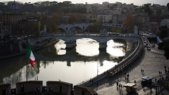 View of the Tiber from the Castel Sant'Angelo (Mausoleum of Hadrian)
