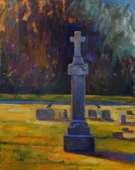 Ravens in Cemetery