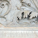 Ara Pacis Augustae, scrolling acanthus relief detail with snake and bird nest