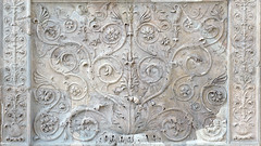 Ara Pacis Augustae, scrolling acanthus relief