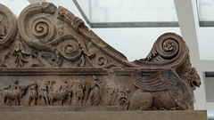 Ara Pacis Augustae, Ara Pacis Augustae, animals led to sacrifice (exterior north side of altar), lion-griffin
