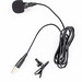 Lavalier Microphone with cable isolated above white background