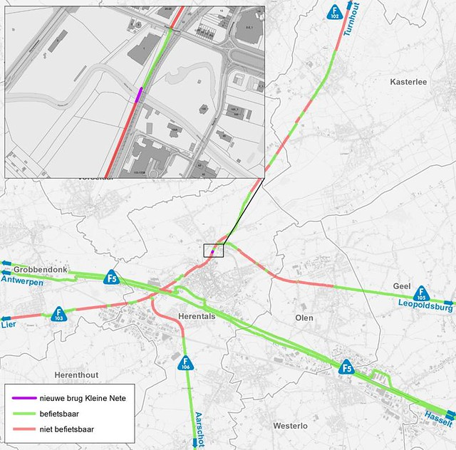 L015 Herentals - Balen (L15) ('fiets-o-strade' 7 - 'fiets-o-strade van de Kempen') Fietsnelweg F105  - Page 3 49998382792_70fdf442ea_z