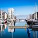 Marina reflection