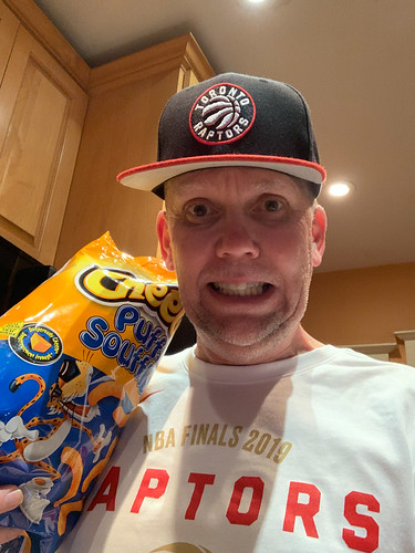 Breaking out the good luck Cheesies - it worked in '92 #WeTheNorth
