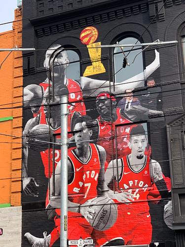 Queen Street Raptor mural