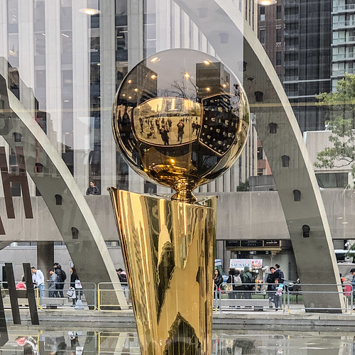 NBA Championship Trophy in Toronto for all to see