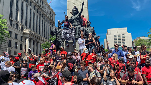 University Avenue Raptor fans waiting to celebrate our 2019 NBA Championship