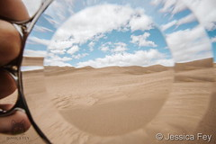 June 12, 2020 - Through the looking glasss at the sand dunes. (Jessica Fey)
