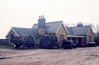 The exterior of Brackley Town station, Northamptonshire, on 9th April 1966.