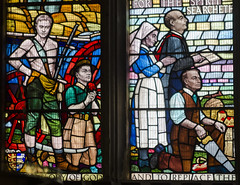 Photo of Stained glass window detail, St Clements church, Hastings