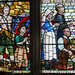 Stained glass window detail, St Clements church, Hastings