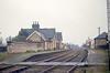 Brackley Town station, Northamptonshire, on 9th April 1966 looking toward Buckingham.