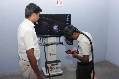 ITI - SRKV, Coimbatore, Welding Simulator Training