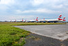 British Airways Planes lined at Glasgow Airport