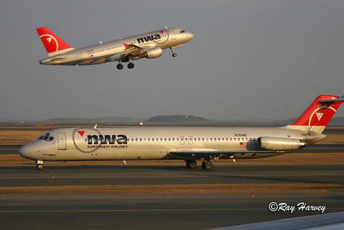 Northwest Airlines at Boston