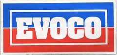 Photo of Evoco Petroleum sticker, 1988