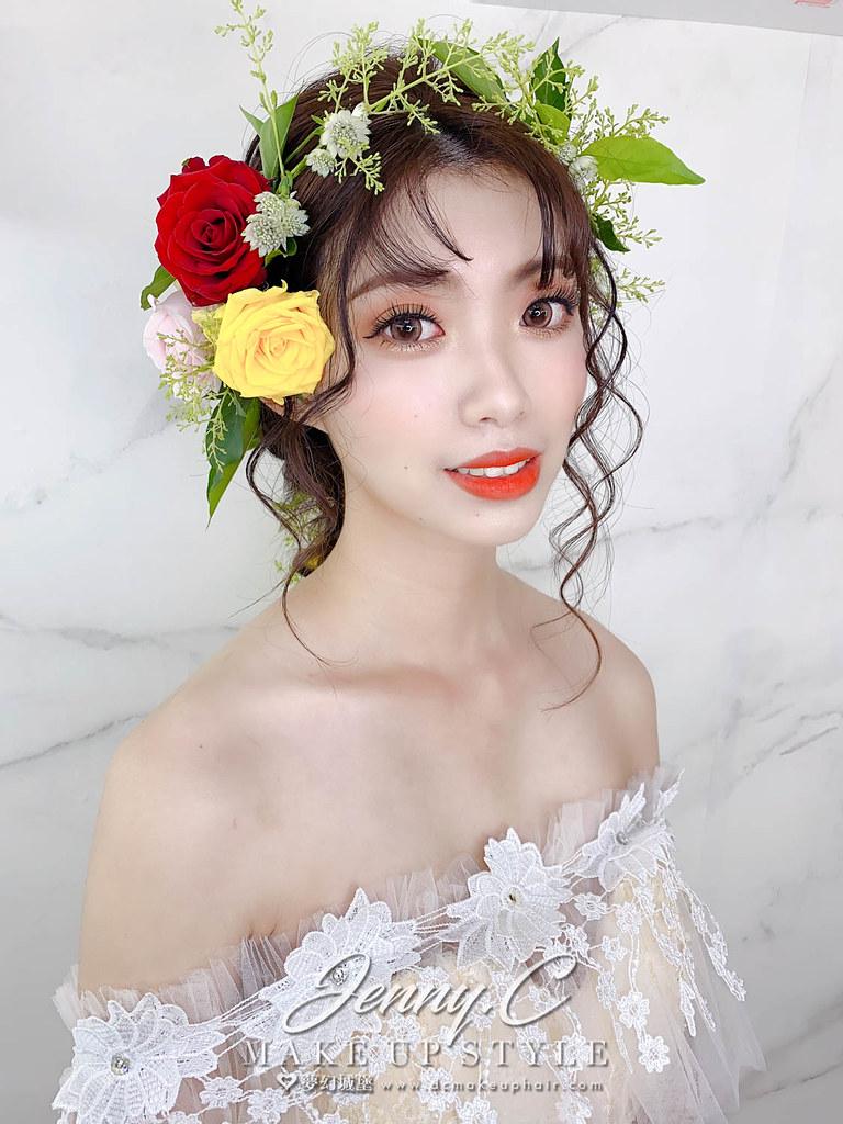【新秘蓁妮】新娘造型創作 / 浪漫花仙子