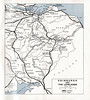 British Railways - area railway map of Edinburgh and the Lowlands , 1950