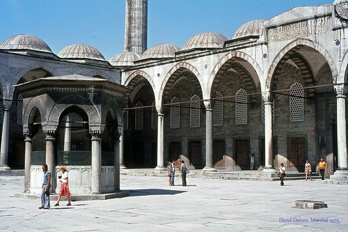 1975.07-45a The courtyard of The Blue Mosque (Sultan Ahmet Mosque), Istanbul, in 1975.