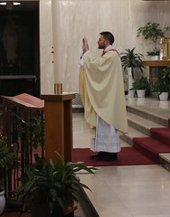 Fr. Holland blesses all those watching via social media