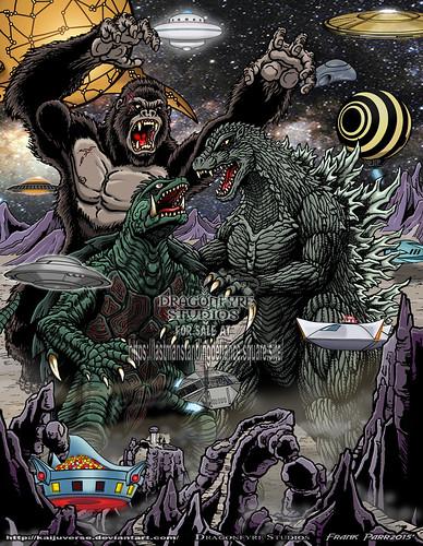 Kong x Gamera x Godzilla