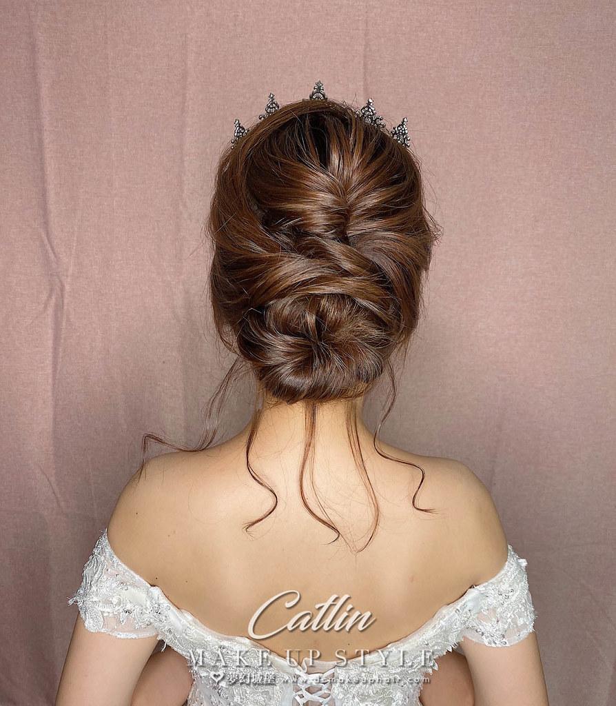 【新秘Catlin】新娘造型創作 / 唯美皇冠造型