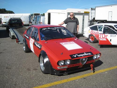 Richard Melvin with his Alfetta GTV