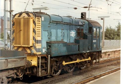 08911 with Shunter's Truck at Carlisle 25th July 1981