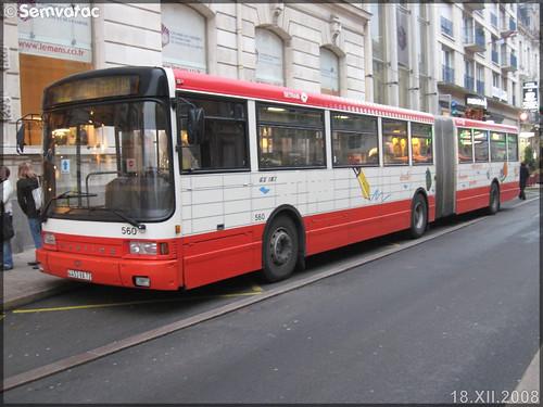 Heuliez Bus GX 187 – Setram (Société d'Économie Mixte des TRansports en commun de l'Agglomération Mancelle) n°560