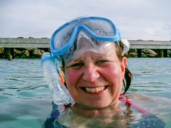 Swimming at Punda Beach