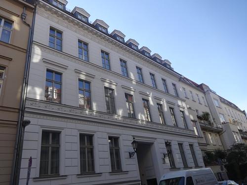 1861 Berlin spätklassizistisches Mietswohnhaus Albrechtstraße 17 in 10117 Friedrich-Wilhelm-Stadt