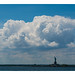 Clouds over the Statue of Liberty