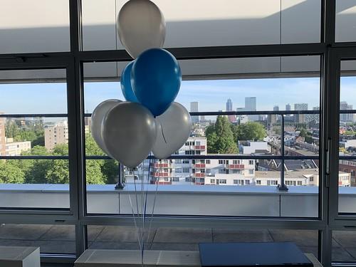 Tafeldecoratie 6ballonnen Shypple Rotterdam