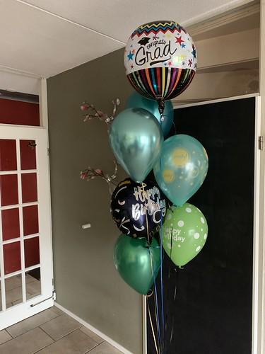 Ballonboeket Geslaagd Verjaardag
