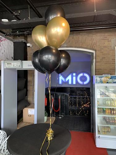 Tafeldecoratie 6ballonnen MIO Rotterdam