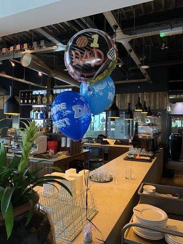 Tafeldecoratie 3ballonnen Vaderdag Watertuin Spijkenisse