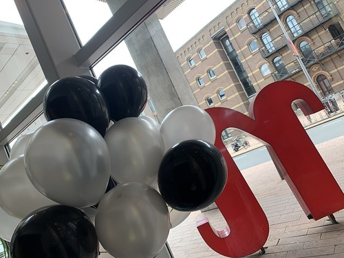 Heliumballonnen Zilver Zwart NHOW Hotel Rotterdam