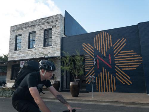 East Austin cyclist