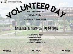 #repost @briibeadsroyalty ・・・ Back again!! 🌱 We at @broadrock_communitygarden this Saturday for a lil situation. I need some help preparing the beds for whatever's next. 🌱 . @thediversedoula wanted to do a lil sum for the community so  P
