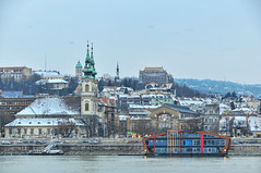 View of the Catholic Church of St. Anne Pest side of the Danube - Hungary