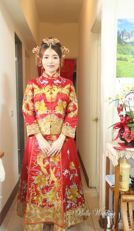 嘉義新秘 ,文定新秘 , 鈺通大飯店 新娘秘書,中國風造型,秀禾服新娘造型